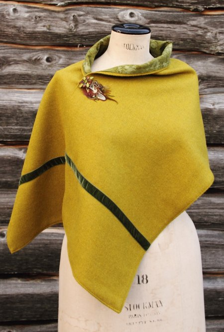 Harris Tweed Mustard Wrap